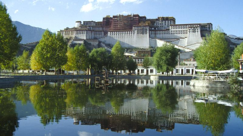 Unterwegs Tibet Lhasa Potala